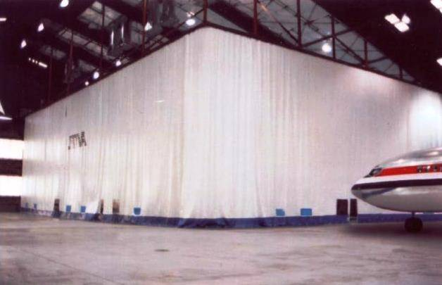 Aircraft Curtain Hangar Partitions