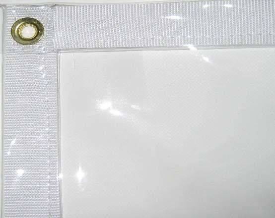 8' X 10' Clear Vinyl Tarps - 30 Mil - Waterproof