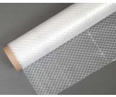 String Reinforced Clear Poly Fabric by the Yard