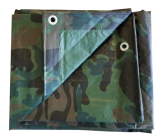 Green Camouflage Utility Poly Tarps