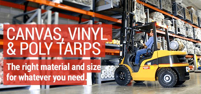 Canvas Vinyl Poly Tarps